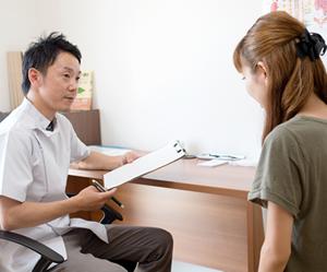 横浜アーク整体院の施術の流れ5「初回問診」