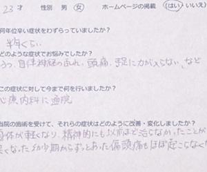 うつ病で手足に力が入らないという横浜市在住のA.Tさん